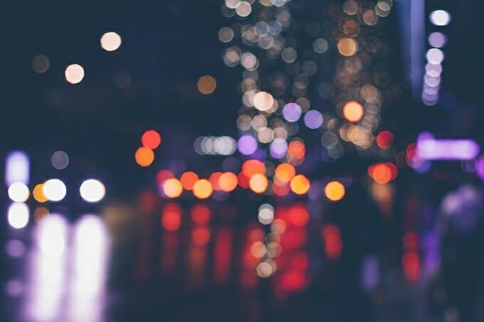 Blurred city lights - Unsplash