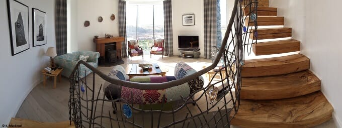 The living room at The Broch
