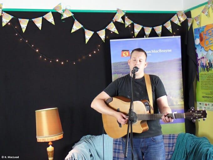 Norrie Maciver at the Hebridean Celtic Festival