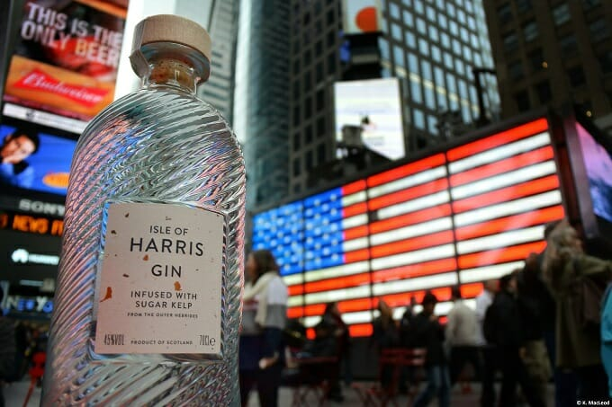 Isle of Harris Gin in Times Square