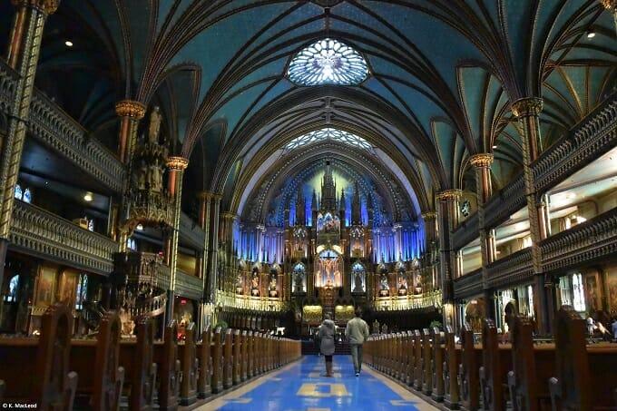 Inside Notre-Dame Basilica