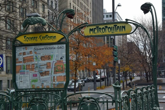 Paris Metro sign, Montreal