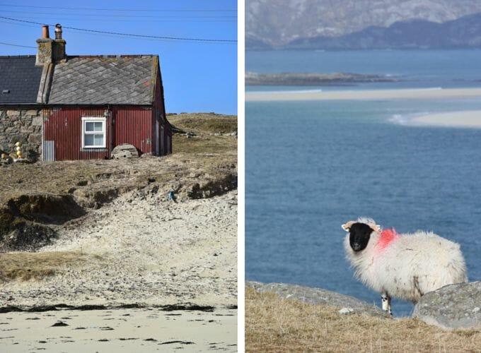 Red house at Huisinis, Isle of Harris