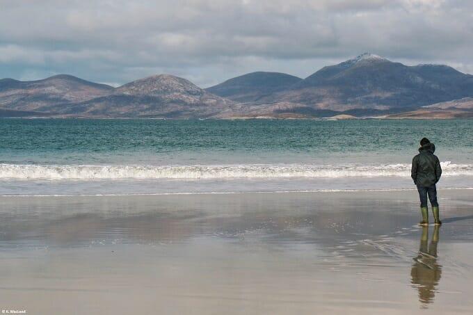 Standing on Luskentyre Beach
