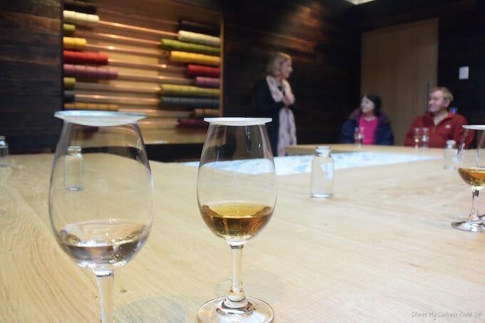 Glass of whisky Harris Distillery