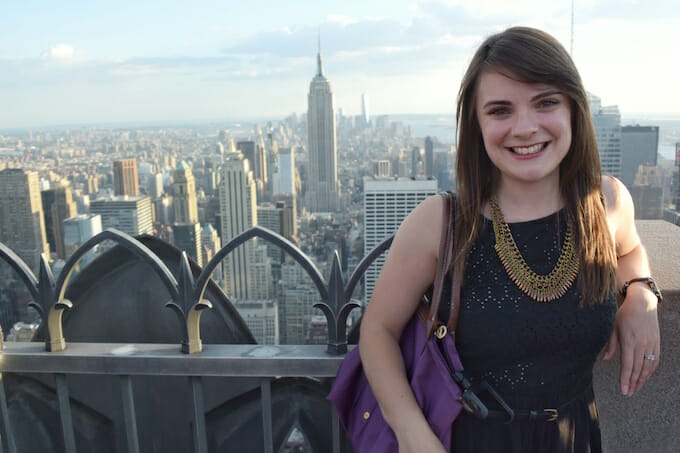 Enjoying NYC expat life at Top of the Rock