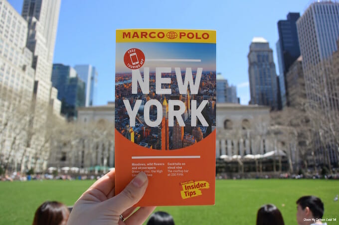 NYC guidebook Bryant Park