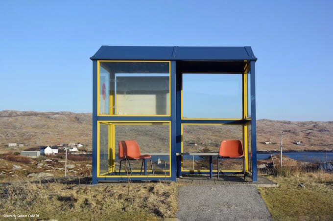 Bus stop Isle of Harris Outer Hebrides