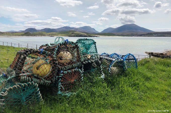 Lobster pots Outer Hebrides