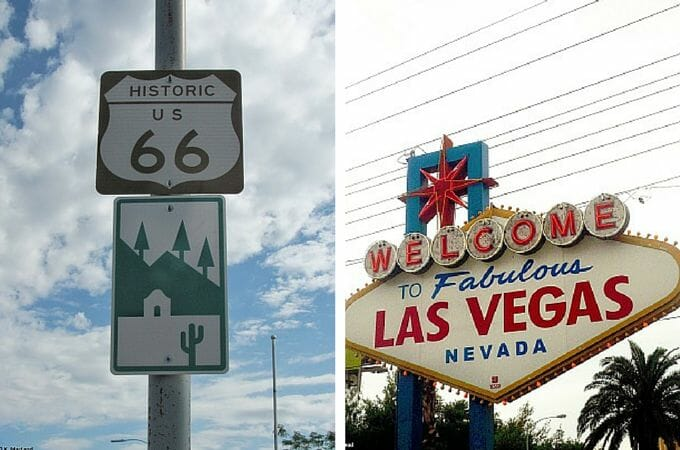 Route 66 and Las Vegas