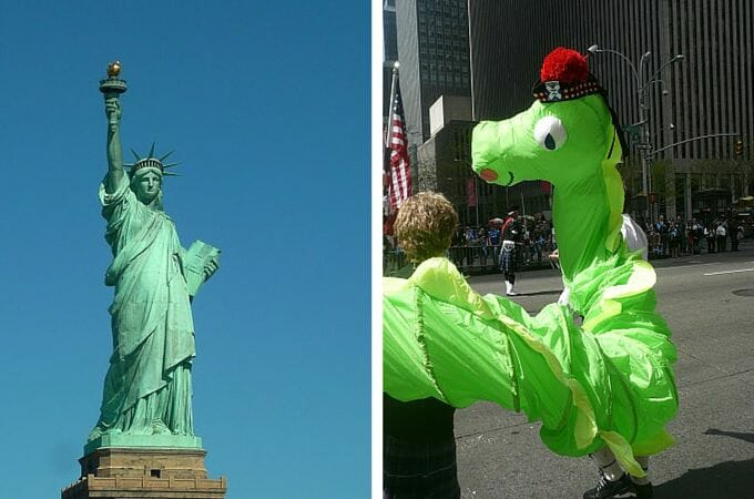 The Statue of Liberty and the Loch Ness Monster