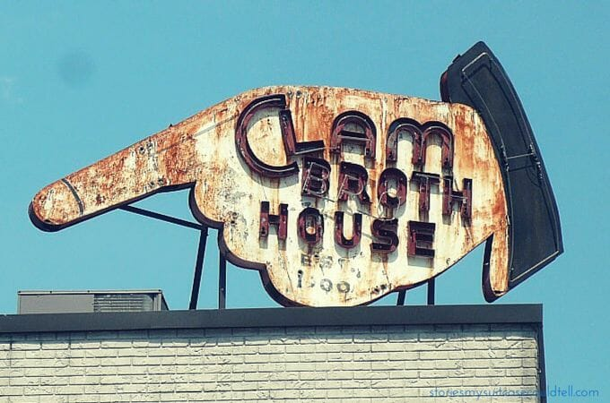 Clam Broth House Sign, Hoboken