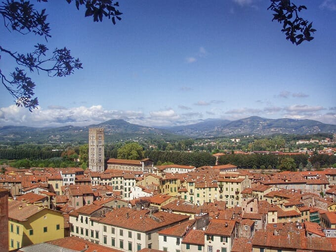 Rooftops of Lucca, Tuscany