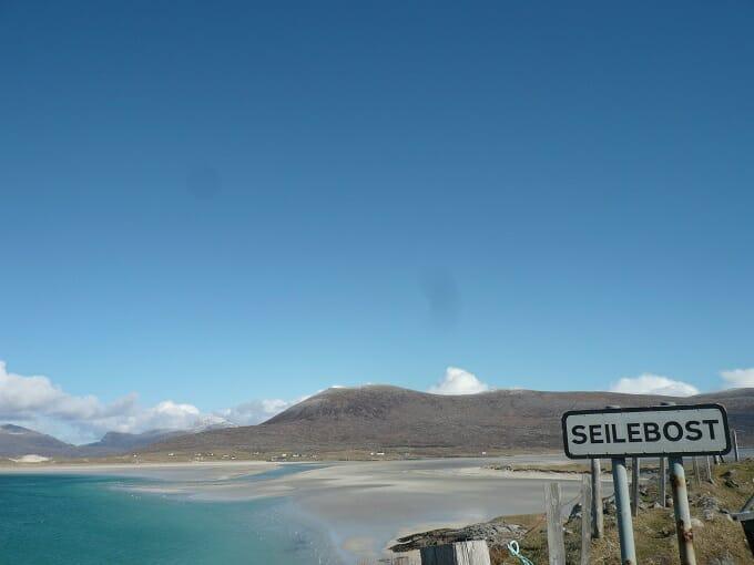 Seilebost road sign, Isle of Harris