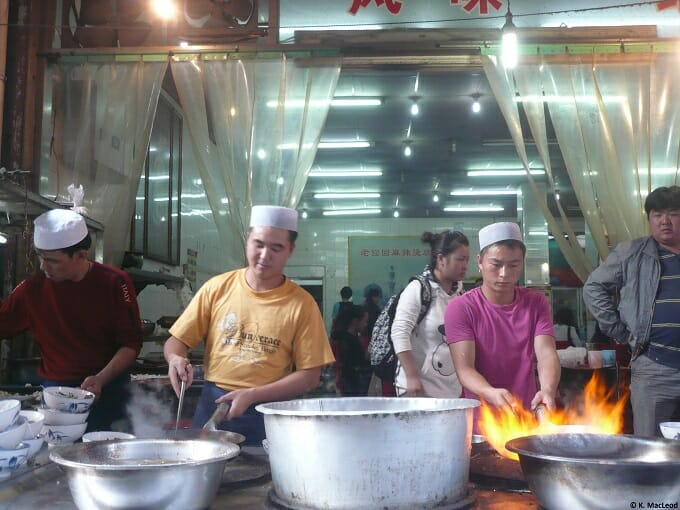 Cooking on the street in China
