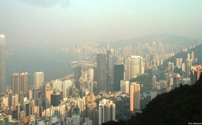 Hong Kong skyscrapers from Victoria Peak