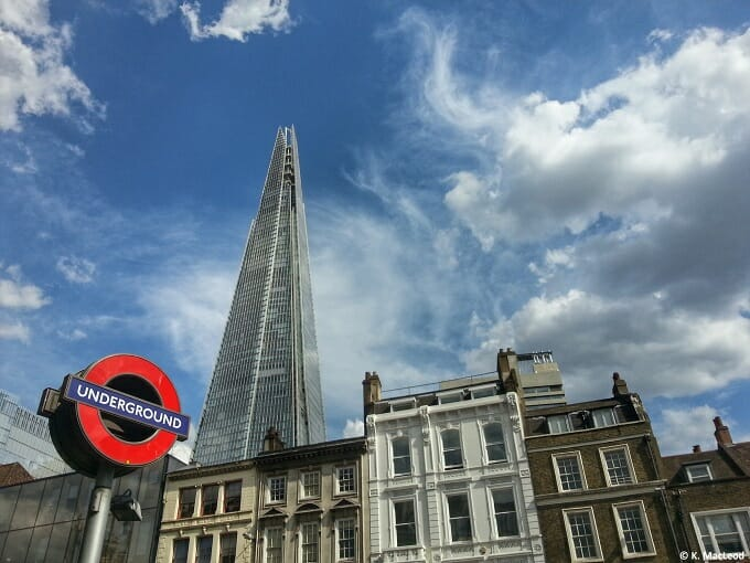 The Shard, overshadowing old London streets