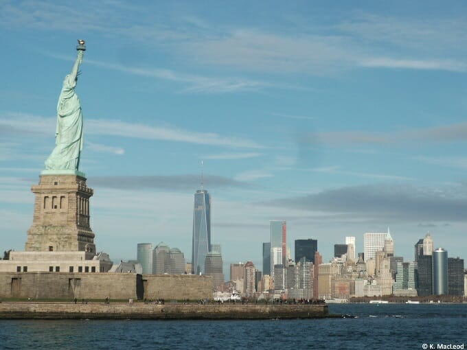 Statue of Liberty against the New York City skyline