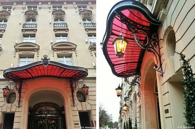 Entrance to Le Royal Monceau Raffles Paris