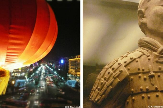 Chinese lanterns and Terracota Warriors in Xi'an