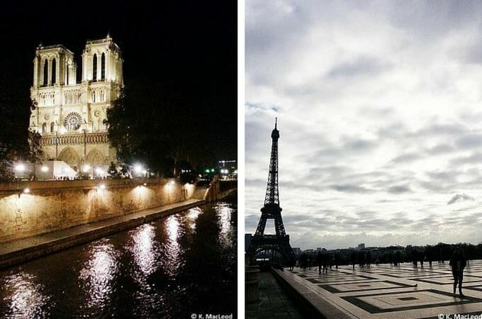Notre Dame and the Eiffel Tower, Paris