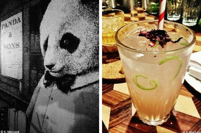 Cocktails at Panda and Sons, Edinburgh