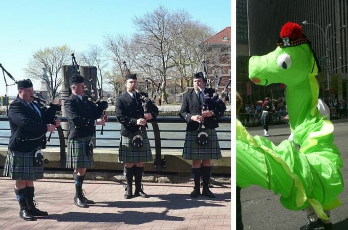 Bagpipes and the Loch Ness Monster in New York City
