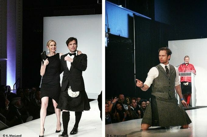 Gossip Girl co-stars and Mark Hogarth, of Harris Tweed Hebrides, take to the stage