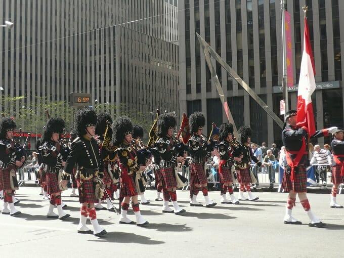 Kilts and bagpipes at Tartan Week in NYC