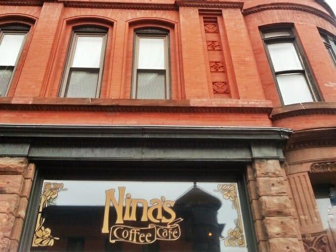 Outside Nina's Coffee Cafe