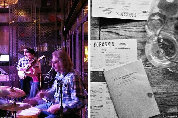 Ceilidh band at Forgan's, St Andrews