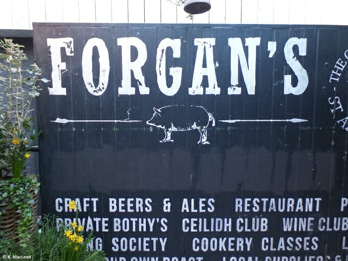 The entrance to Forgan's, St Andrews