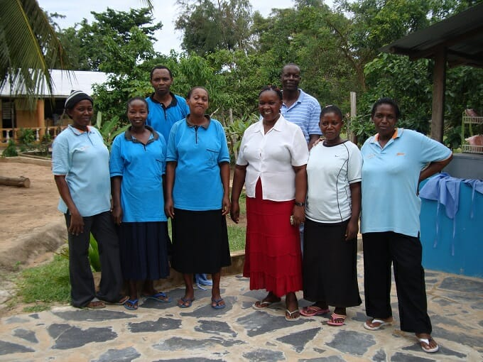 The staff at Footprints Children's Home