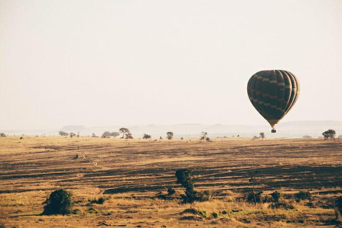 Hot air balloon Tanzania