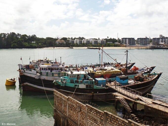 Fishing boats at Mombasa's Old Port