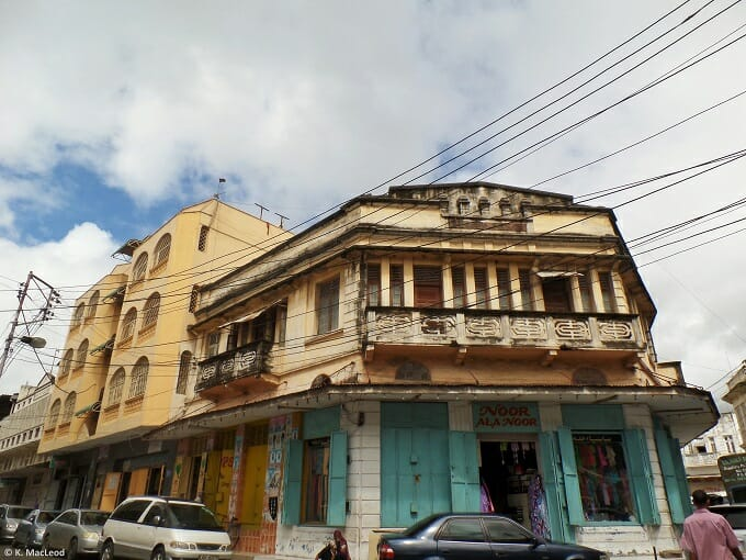 The streets of Mombasa