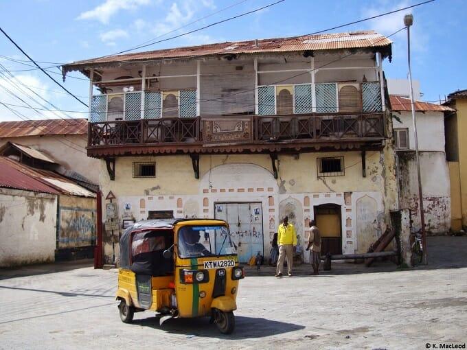 Tuk tuk in the square, Mombasa