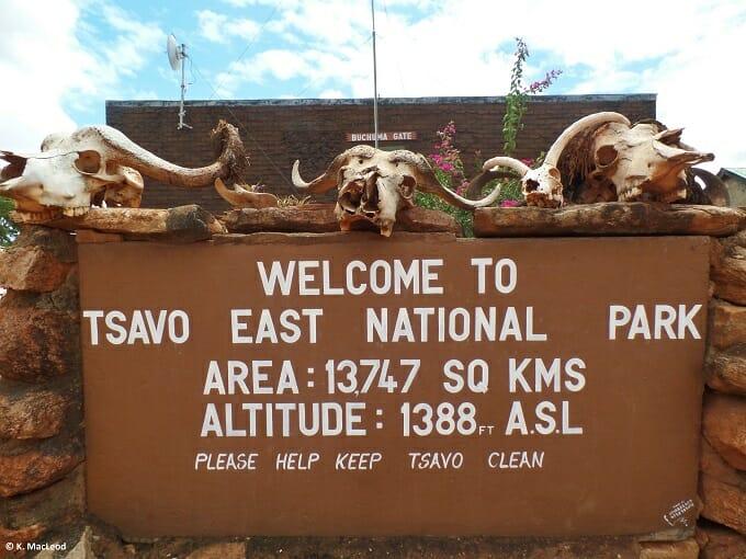 Entrance to Tsavo East