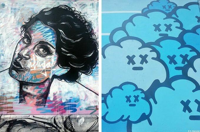 Street art portrait in Shoreditch