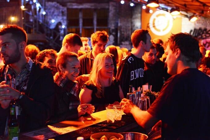 At the bar at Street Feast London