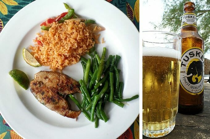 Lunch at Diani Sea Resort