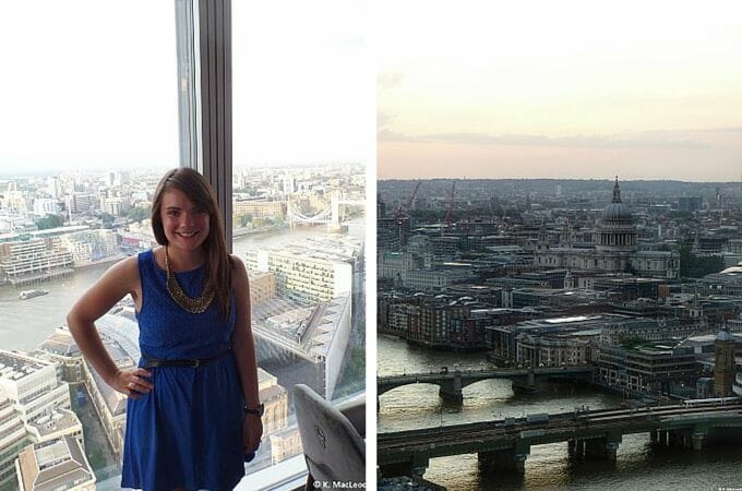 The view of London from Aqua Shard