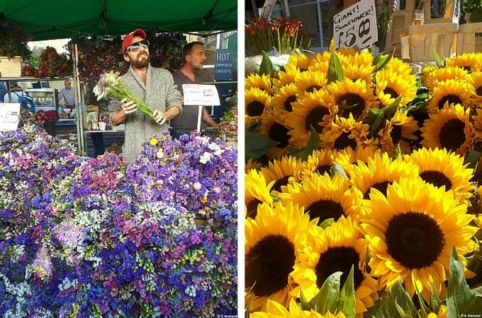 Sunflowers at Columbia Road Flower Market