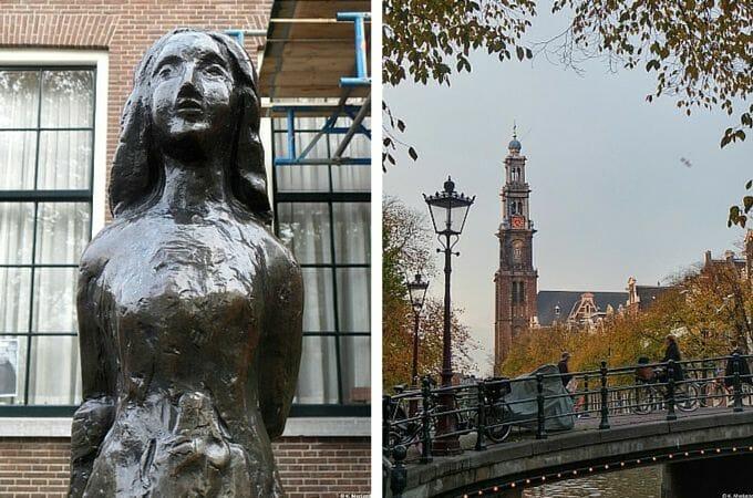 Anne Frank Statue near the Anne Frank House