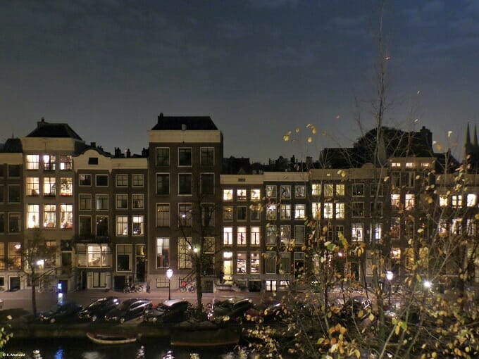 Amsterdam canal view from Th Dylan
