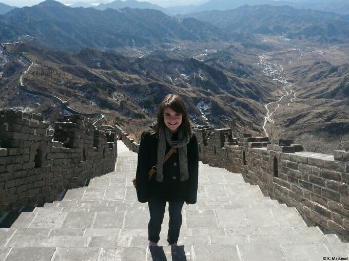 Standing on the Great Wall