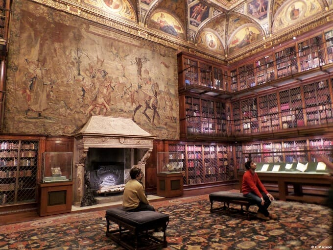Morgan Library fireplace