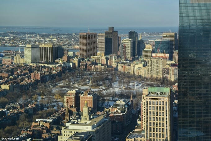 Boston Common from the air