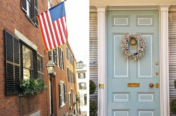 Doorways of Beacon Hill, Boston