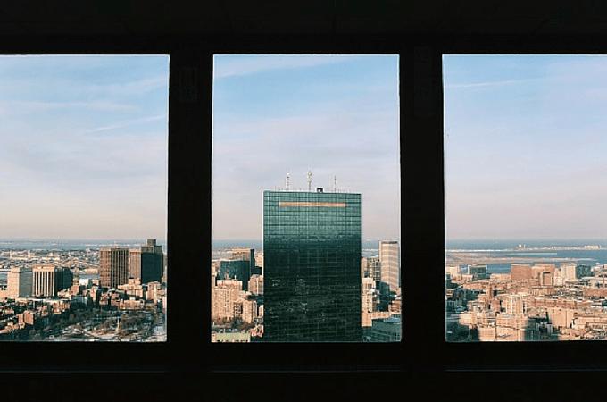 John Hancock Tower from The Pru